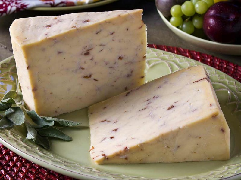 Cherry Sage Cheddar cheese