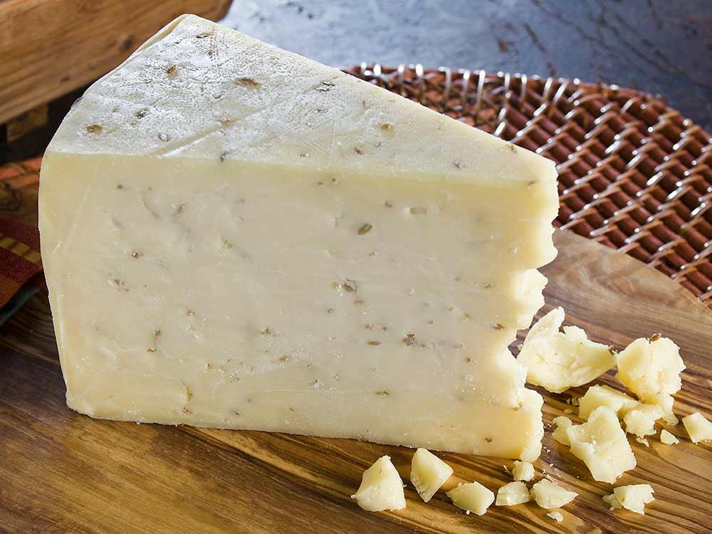 Cumin Cheddar artisan cheese