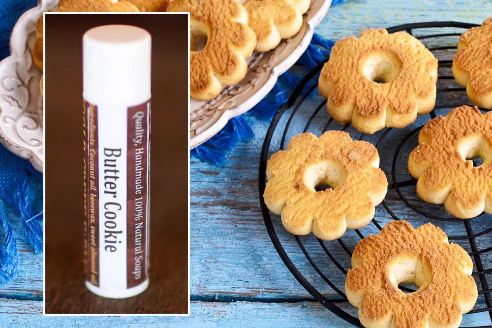 natural lip balm butter cookie