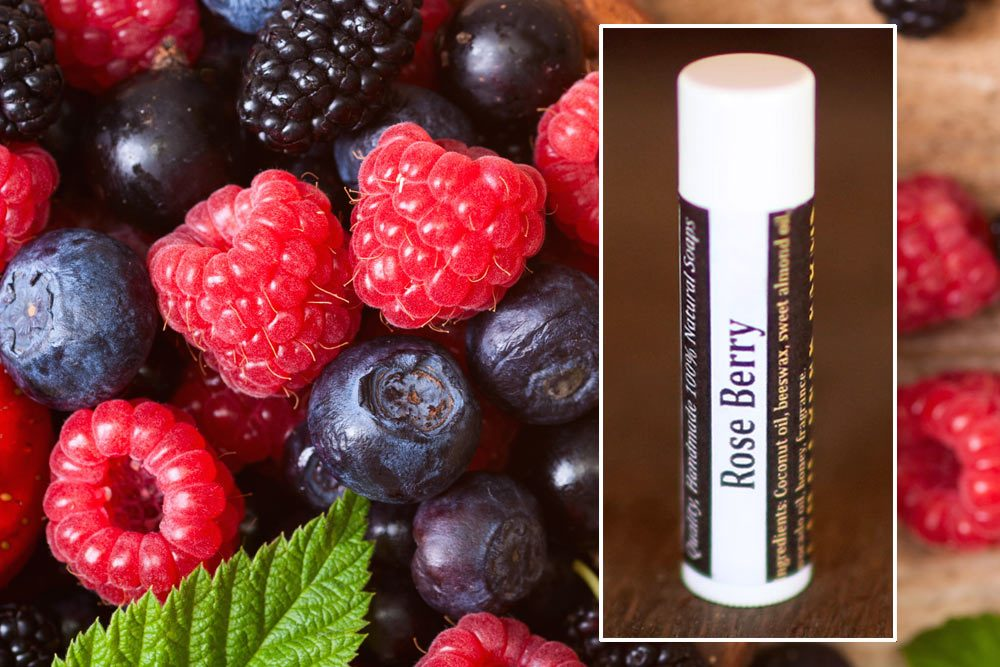 natural lip balm rose berry