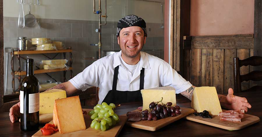 Fernando cheesemaker at Gold Creek Farms