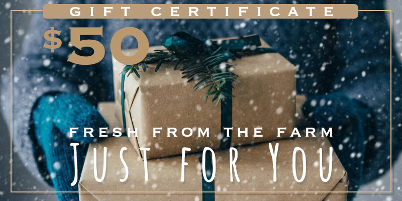 $50 gift certificate gifts