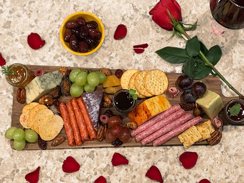 romantic cheese board